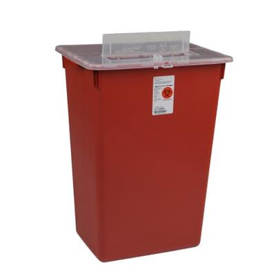 MULTI PURPOSE SHARPS CONTAINER SHARPS-A-GATOR? 1-PIECE 14H X 15.5W X 12D INCH 7 GALLON RED