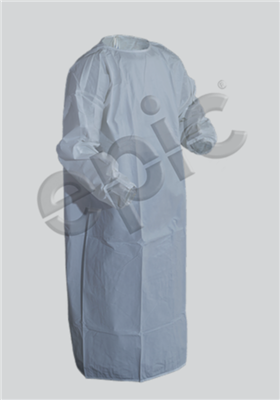 ISO GOWN, WHITE MP CTD, T-STRAP, EW, XLG 30/case