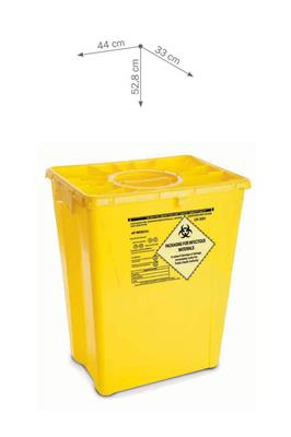 MedSMART Chemo Waste Container 12 Gallon Yellow W/Duo lid 8/case