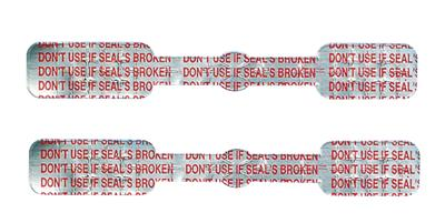 "For Large Syringes ""Don't Use If Seal's Broken"""