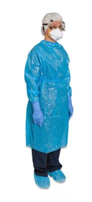 Chemotherapy Gown ChemoPlus Medium Blue Long Sleeve Poly Coated NonSterile 30/case