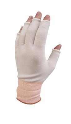 PureTouch Glove Liners Orange Cuff Extra Large Half Finger