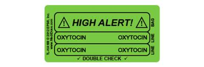 Line Tracing Label Green Background - Oxytocin 1000 labels/roll